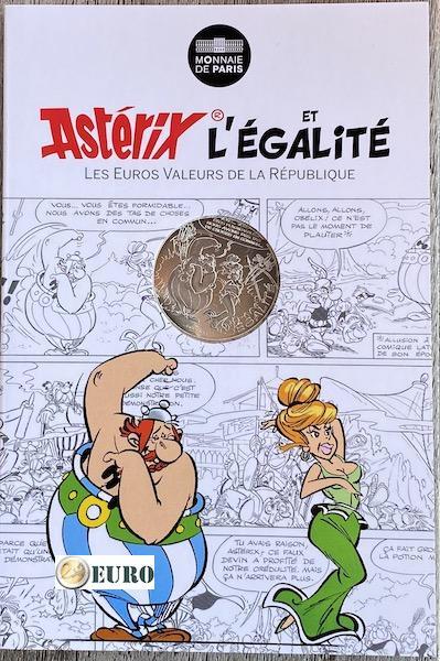 10 euro Frankreich 2015 - Asterix Gleichheit Prophezeiungen des Sehers - in Coincard