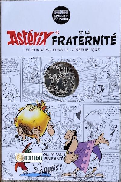 10 euro Frankreich 2015 - Asterix Brüderlichkeit bei den Olympischen Spielen - in Coincard