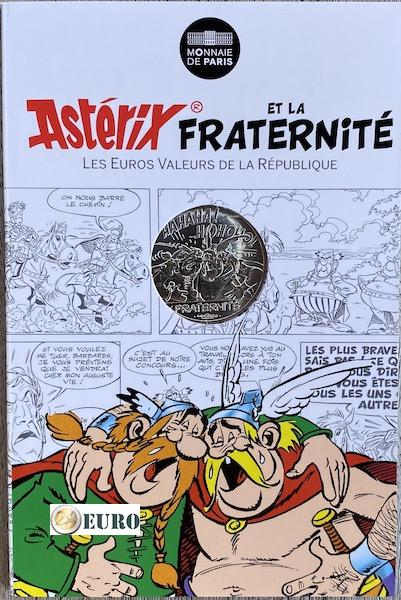 10 euro Frankreich 2015 - Asterix Brüderlichkeit bei den Belgiern - in Coincard