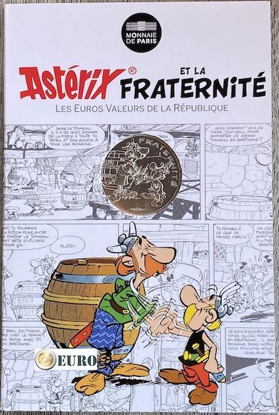 10 euro Frankreich 2015 - Asterix Brüderlichkeit bei den Briten - in Coincard