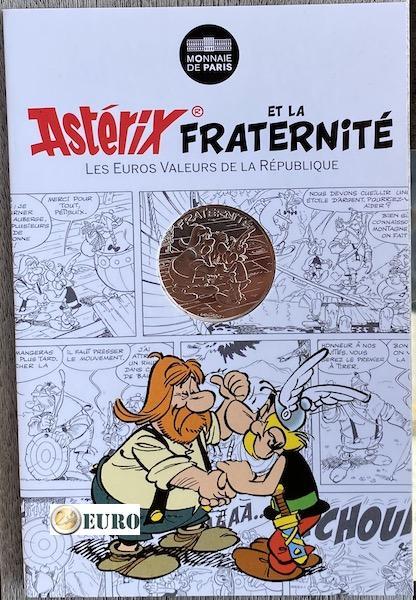 10 euro Frankreich 2015 - Asterix Brüderlichkeit bei den Schweizern - in Coincard