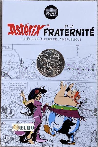 10 euro Frankreich 2015 - Asterix Brüderlichkeit in Spanien - in Coincard