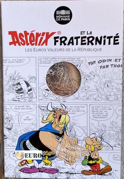 10 euro Frankreich 2015 - Asterix Brüderlichkeit und die Normannen - in Coincard