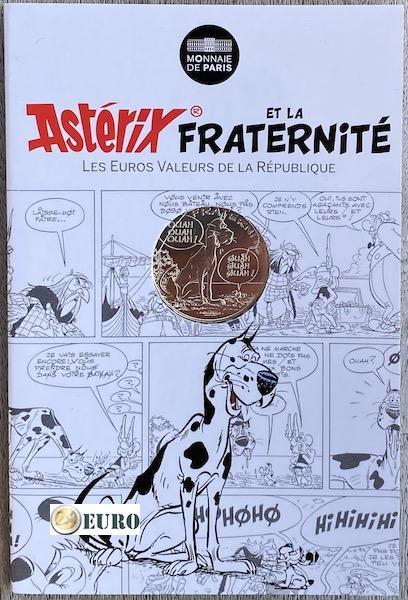 10 euro Frankreich 2015 - Asterix Brüderlichkeit Die große Überfahrt - in Coincard
