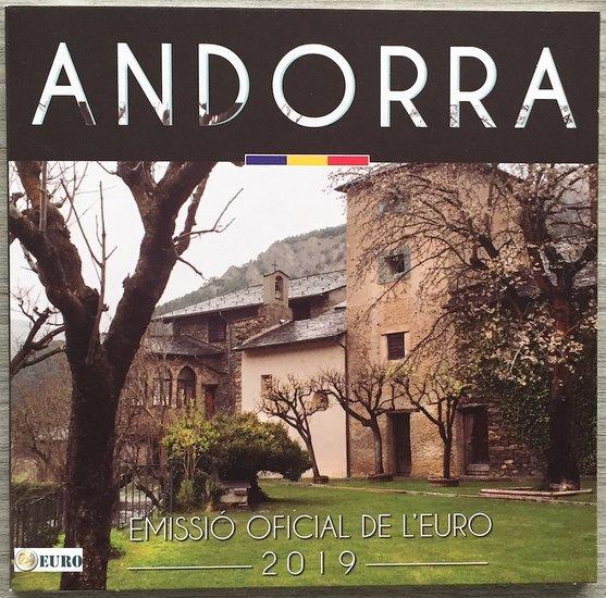 KMS Andorra 2019 Euro set BU FDC