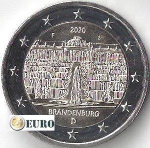 2 euro Deutschland 2020 - F Brandenburg UNC