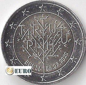 2 euro Estonia 2020 - Frieden von Tartu UNC UNZ