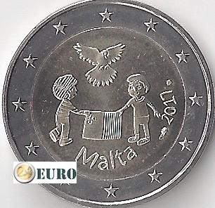 2 euro Malta 2017 - Peace UNC mintmark MdP