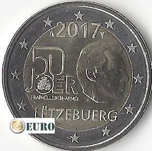 2 euro Luxemburg 2017 - Freiwilliger Militärdienst UNC