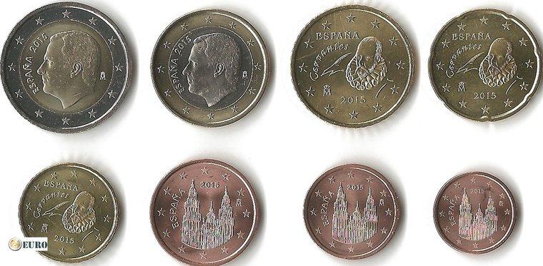 Euro set UNC Spain 2015