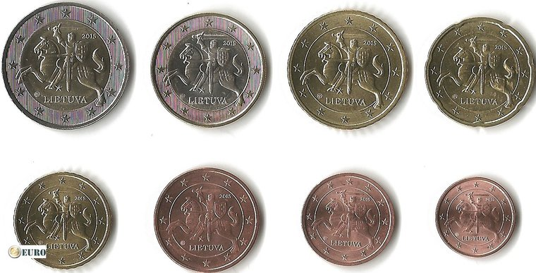 Euro set UNC Lithuania 2015