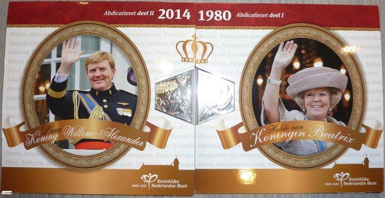 Euro set BU FDC Netherlands 2013 + 2014 Abdication