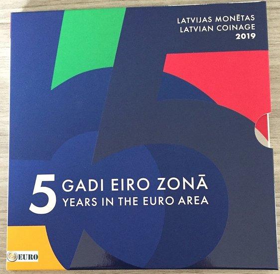 Euro set BU FDC Latvia 2019