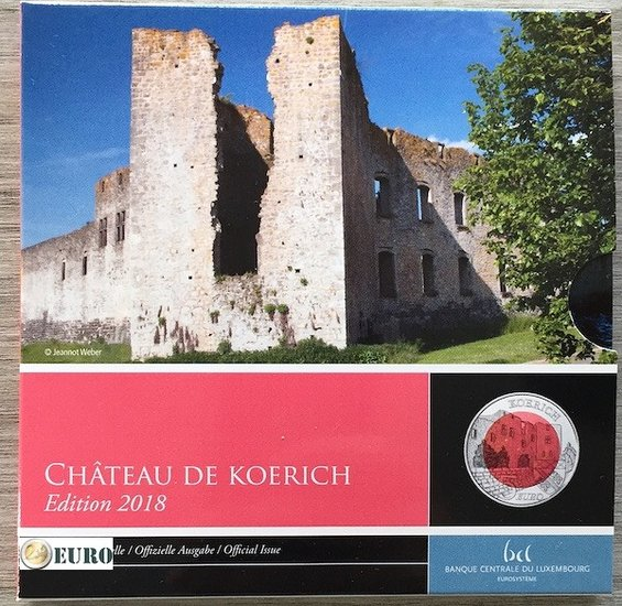 5 euro Luxembourg 2018 - Castle of Koerich BE Proof