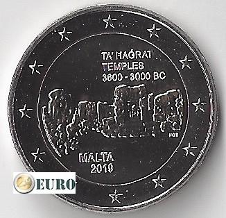 2 euro Malta 2019 - Ta' Hagrat Temple UNC mint mark F