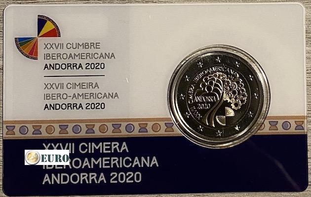 2 euro Andorra 2020 - Iberoamerikanisches Gipfeltreffen PP BE Proof