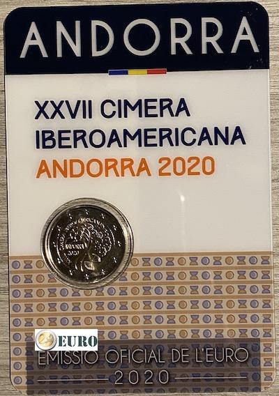 2 euro Andorra 2020 - Iberoamerikanisches Gipfeltreffen BU FDC Coincard