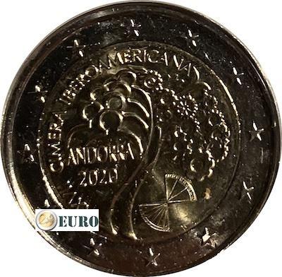 2 euro Andorra 2020 - Iberoamerikanisches Gipfeltreffen UNZ UNC
