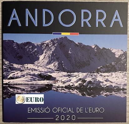 KMS Andorra 2020 Euro set BU FDC