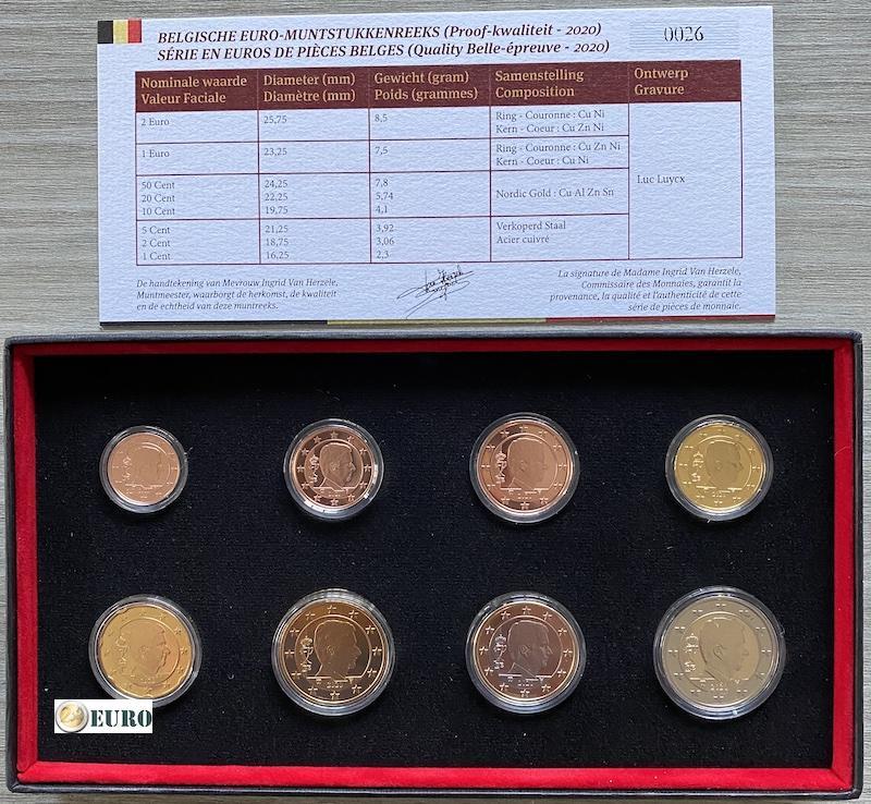 KMS Belgien 2020 Euro set PP BE Proof