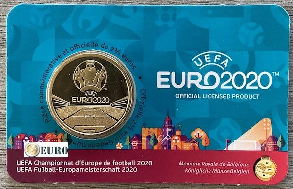 2,50 Euro Belgien 2021 - EM UEFA EURO 2020 BU FDC Coincard FR