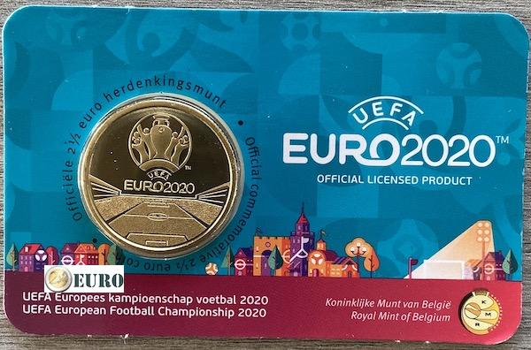2,50 Euro Belgien 2021 - EM UEFA EURO 2020 BU FDC Coincard NL