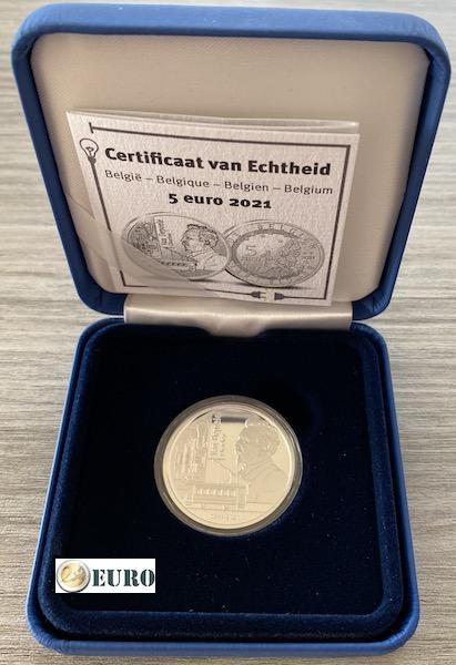 5 euro Belgien 2021 - Charles Van Depoele PP BE Proof Silber