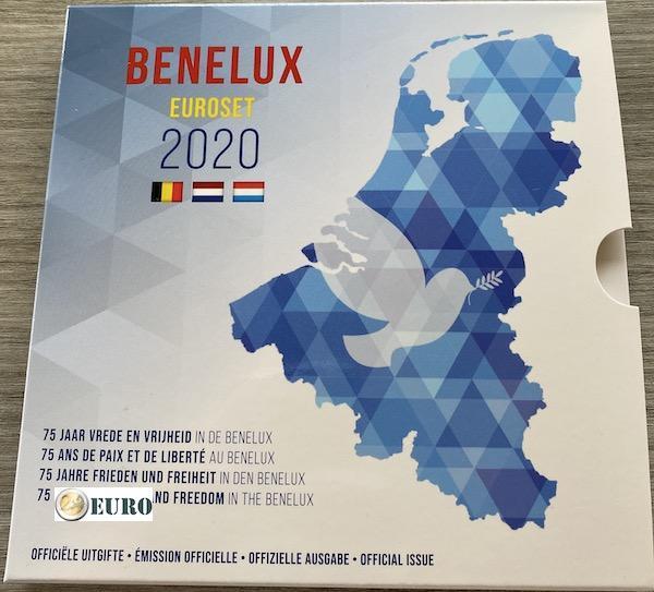 Euro set BU FDC Benelux 2020 Frieden in Europa