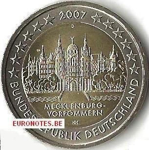 Germany 2007 - 2 euro D Mecklenburg-Vorpommern UNC