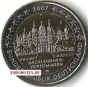 Germany 2007 - 2 euro F Mecklenburg-Vorpommern UNC