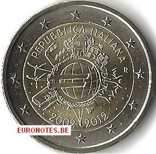 Italy 2012 - 2 euro 10 years euro UNC