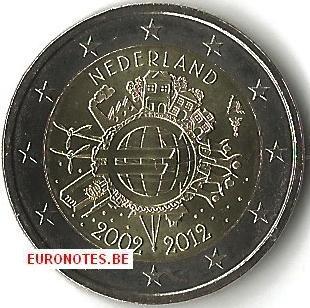 Netherlands 2012 - 2 euro 10 years euro UNC