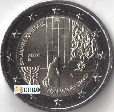 2 euro Deutschland 2020 - D Kniefall von Warschau UNC UNZ