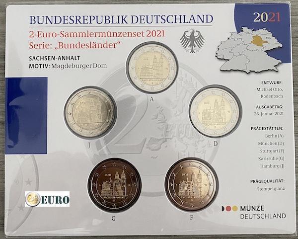 2 euro Deutschland 2021 - ADFGJ Sachsen-Anhalt Stgl BU FDC