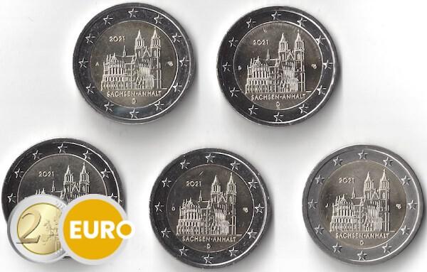 2 euro Deutschland 2021 - ADFGJ Sachsen-Anhalt UNC