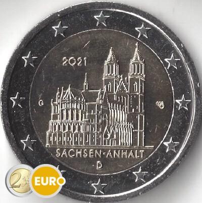 2 euro Deutschland 2021 - G Sachsen-Anhalt UNZ UNC