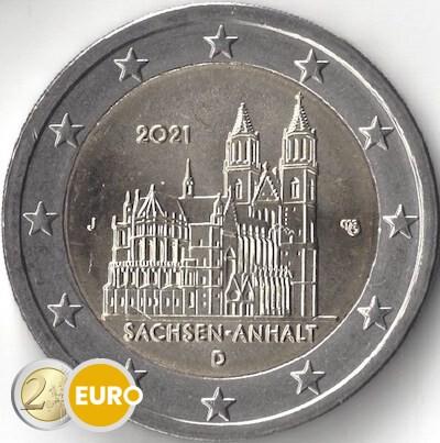 2 euro Deutschland 2021 - J Sachsen-Anhalt UNZ UNC