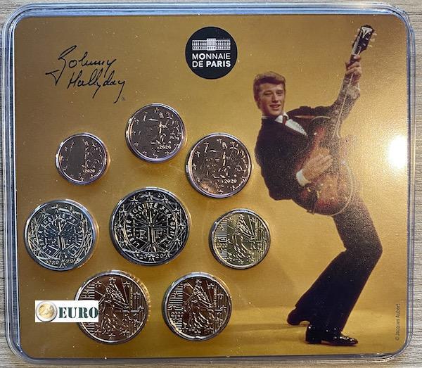 KMS Frankreich 2020 BU FDC Miniset Johnny Hallyday Vintage Gitarre