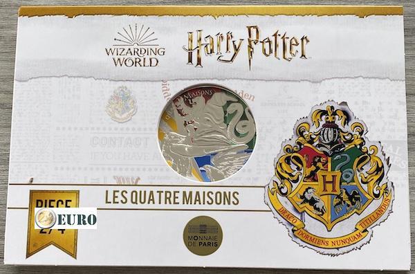 50 Euro Frankreich 2021 - Harry Potter 4 Häuser von Hogwarts BE Proof PP Silber farbig