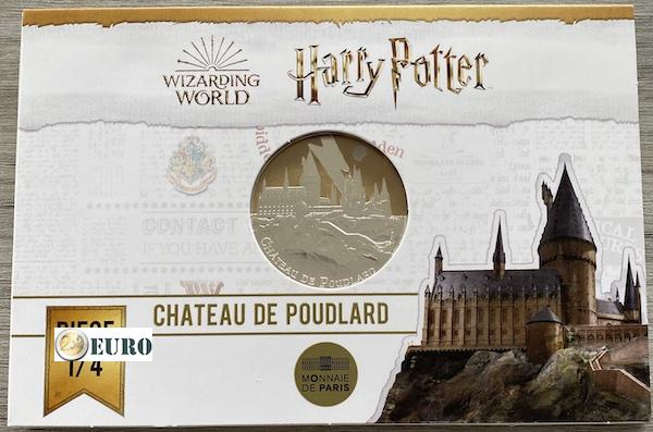 50 Euro Frankreich 2021 - Harry Potter Schloss Hogwarts BE Proof PP Silber farbig