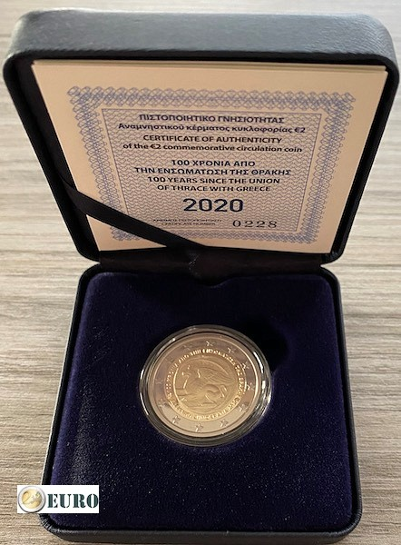 2 euro Griechenland 2020 - Vereinigung Thrakiens PP BE Proof