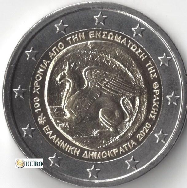 2 euro Griechenland 2020 - Vereinigung Thrakiens UNC UNZ