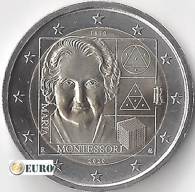 2 euro Italien 2020 - 150 Jahre Maria Montessori UNC UNZ