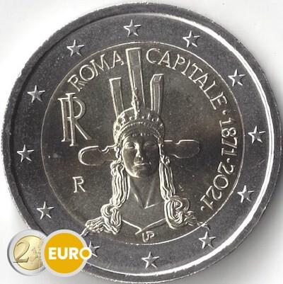 2 euro Italien 2021 - 150 Jahre Rom Hauptstadt UNC UNZ
