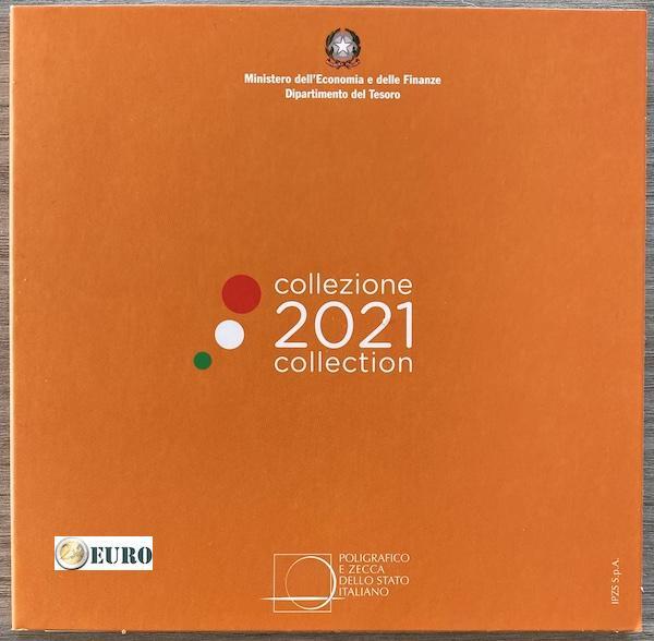 KMS Italien 2021 Kursmünzsatz Stgl. BU FDC