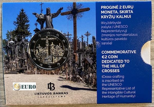 2 euro Litauen 2020 - Hügel der Kreuze BU FDC Coincard