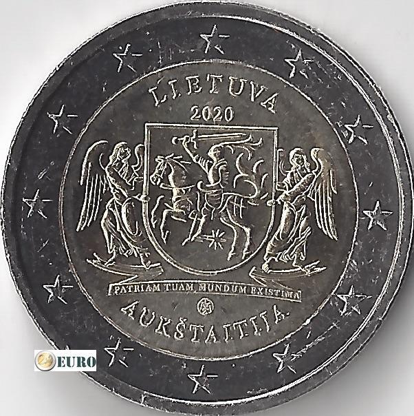 2 euro Litauen 2020 - Region Aukštaitija UNC UNZ