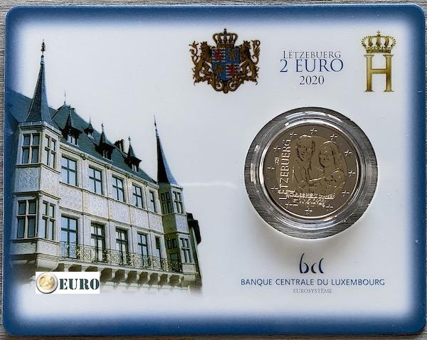 2 Euro Luxemburg 2020 - Geburt Charles von Luxemburg BU FDC Coincard