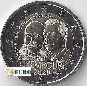 2 Euro Luxemburg 2020 - Heinrich von Oranien-Nassau UNC