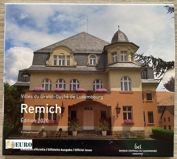 KMS BU FDC Luxembourg 2020 Remich + 2 euro Heinrich